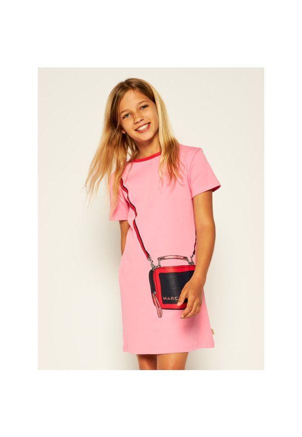 Różowa sukienka Little Marc Jacobs casualowa, prosta, na co dzień