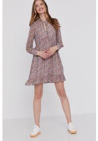 Wielokolorowa sukienka Answear Lab wakacyjna, prosta, mini