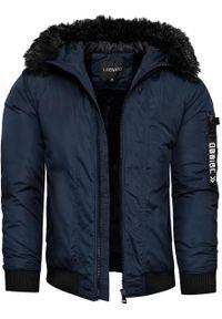 Niebieska kurtka zimowa Recea bez kaptura