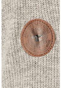 Szary sweter Tom Tailor Denim na co dzień, z długim rękawem, z golfem