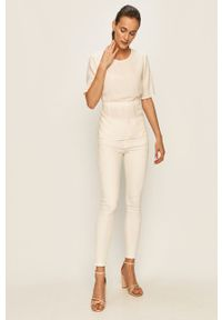 Białe jeansy Vila w kolorowe wzory #4