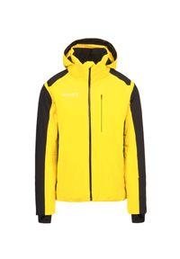 Descente - Kurtka narciarska DESCENTE REIGN. Kolor: żółty. Materiał: włókno, lycra, tkanina, materiał. Technologia: Dermizax. Sport: narciarstwo