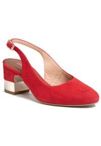 Czerwone sandały Baldaccini casualowe, na co dzień