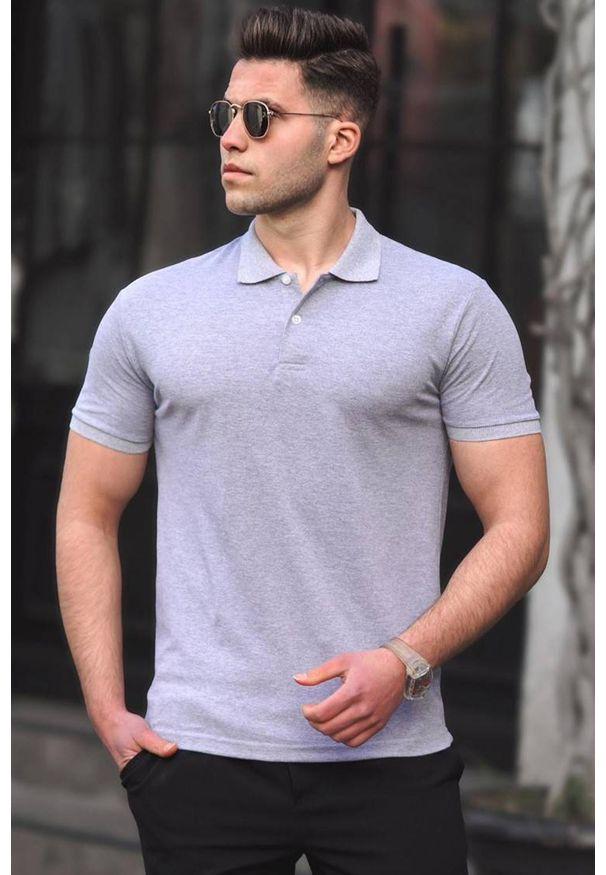 Szary t-shirt IVET casualowy, na co dzień, polo