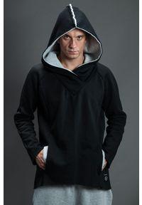 Hultaj Polski - Bluza bokserska męska czarna. Typ kołnierza: kaptur. Kolor: czarny. Materiał: dresówka, bawełna, dzianina, elastan, tkanina. Długość rękawa: długi rękaw. Długość: długie. Wzór: kolorowy #1