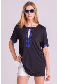 Czarna bluzka Versace Collection rockowa