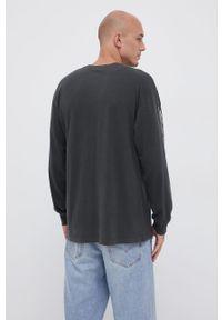 Vans - Longsleeve bawełniany. Okazja: na co dzień. Kolor: szary. Materiał: bawełna. Długość rękawa: długi rękaw. Wzór: gładki. Styl: casual