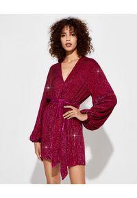 RETROFETE - Różowa sukienka z cekinów Gabrielle. Kolor: różowy, fioletowy, wielokolorowy. Sezon: lato. Styl: wizytowy