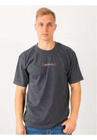 Edwin T-Shirt Aurora Ts I026752 TH442M4 EBN67 Szary Regular Fit. Kolor: szary
