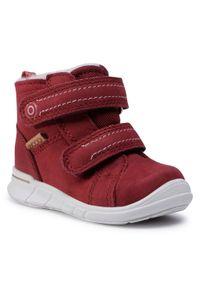 ecco - Śniegowce ECCO - First GORE-TEX 75431102480 Syrah. Kolor: czerwony. Materiał: skóra, nubuk. Szerokość cholewki: normalna. Sezon: zima