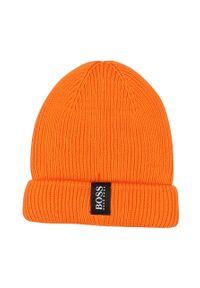 Pomarańczowa czapka BOSS