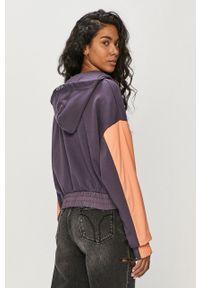 Fioletowa bluza Nike Sportswear krótka, z kapturem