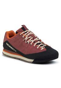 Czerwone buty trekkingowe Merrell trekkingowe, z cholewką