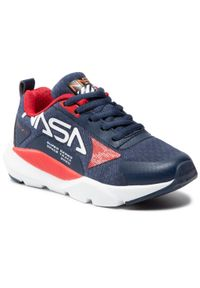 NASA by Pablosky - Sneakersy NASA BY PABLOSKY - N01520 Blue. Okazja: na co dzień. Kolor: niebieski. Materiał: materiał. Szerokość cholewki: normalna. Styl: casual
