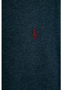 Niebieska koszulka z długim rękawem Polo Ralph Lauren polo, casualowa, melanż, na co dzień