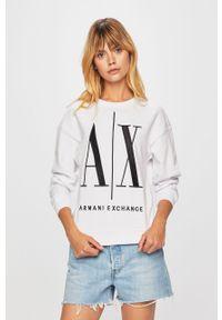 Biała bluza Armani Exchange bez kaptura, na co dzień