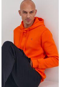 G-Star RAW - G-Star Raw - Bluza. Okazja: na co dzień. Typ kołnierza: kaptur. Kolor: pomarańczowy. Materiał: dzianina. Wzór: gładki, aplikacja. Styl: casual
