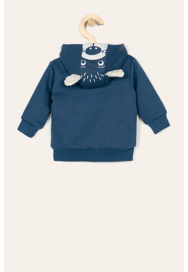 Niebieska bluza rozpinana Blue Seven na co dzień, z kapturem, casualowa