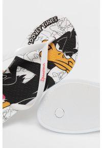 Ipanema - Japonki. Kolor: biały. Materiał: materiał, guma. Wzór: gładki. Obcas: na obcasie. Wysokość obcasa: niski