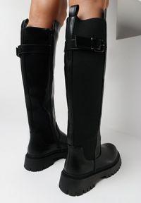 Born2be - Czarne Kozaki Philope. Okazja: na co dzień. Wysokość cholewki: przed kolano. Nosek buta: okrągły. Zapięcie: zamek. Kolor: czarny. Szerokość cholewki: normalna. Wzór: jednolity. Styl: casual