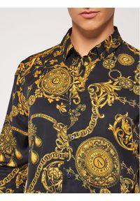 Versace Jeans Couture Koszula Print Baroque Bijoux 71GAL2S0 Czarny Regular Fit. Kolor: czarny. Wzór: nadruk