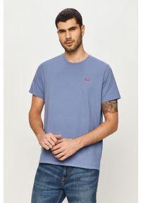 Niebieski t-shirt Levi's® na spotkanie biznesowe, casualowy
