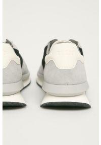 Szare sneakersy Guess z okrągłym noskiem, z cholewką