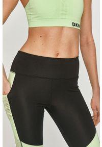 DKNY - Dkny - Legginsy. Stan: podwyższony. Kolor: czarny. Materiał: dzianina