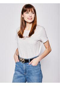 Tommy Jeans T-Shirt DW0DW06712 Szary Regular Fit. Kolor: szary