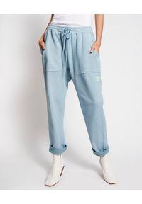 ONETEASPOON - Niebieskie spodnie dresowe. Stan: obniżony. Kolor: niebieski. Materiał: dresówka