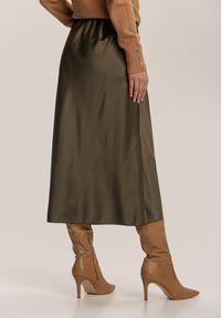 Renee - Zielona Spódnica Dracoth. Kolor: zielony. Materiał: tkanina, guma. Wzór: gładki. Styl: klasyczny
