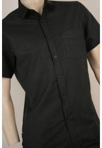 Czarna koszula casual Roy Rony krótka, na lato
