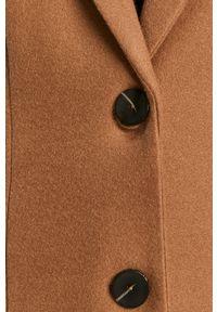 Brązowy płaszcz only na co dzień, klasyczny, bez kaptura