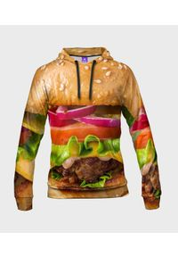 MegaKoszulki - Bluza damska fullprint z kapturem Burger z bliska. Typ kołnierza: kaptur. Materiał: dresówka, dzianina