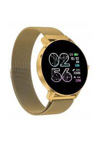 Złoty zegarek Bemi smartwatch, sportowy