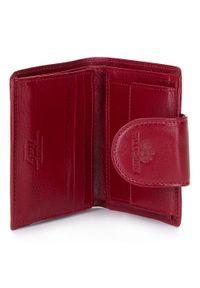 Wittchen - Damski portfel skórzany z elegancką napą. Kolor: czerwony. Materiał: skóra #8