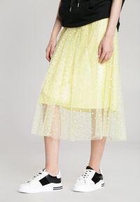 Renee - Żółta Spódnica Olivine. Kolor: żółty