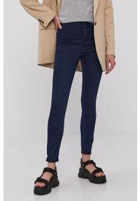 Niebieskie jeansy Vero Moda z podwyższonym stanem