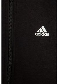 Czarna bluza rozpinana Adidas z kapturem, casualowa