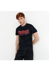 House - T-shirt z nadrukiem Marvel Carnage - Czarny. Kolor: czarny. Wzór: motyw z bajki, nadruk
