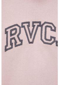 RVCA - T-shirt bawełniany. Kolor: różowy. Materiał: bawełna. Wzór: aplikacja