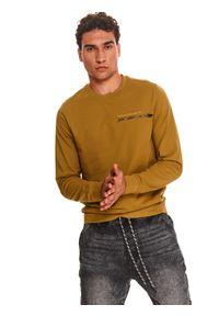 TOP SECRET - Bluza nierozpinana męska nierozpinana. Kolor: zielony
