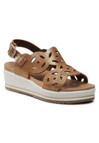 Brązowe sandały Imac