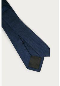 Niebieski krawat Calvin Klein gładki