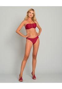 MISSION SWIM - Dół od bikini Ines. Kolor: czerwony. Materiał: materiał. Wzór: aplikacja