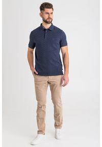 Brązowe spodnie Joop! Collection w kolorowe wzory
