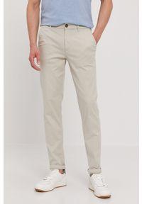 Selected - Spodnie. Kolor: szary. Materiał: tkanina. Wzór: gładki