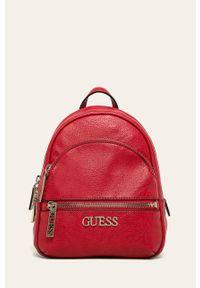 Czerwony plecak Guess gładki