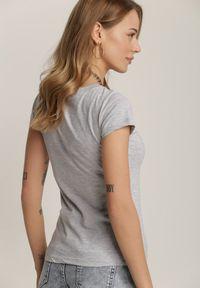 Renee - Szary T-shirt Saliphite. Kolor: szary