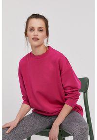 4f - 4F - Bluza. Kolor: różowy. Materiał: dzianina. Długość rękawa: długi rękaw. Długość: długie